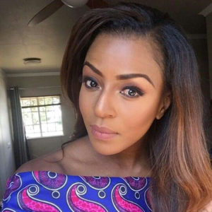 Jessica Nkosi Ombre hair with Kinky Hair