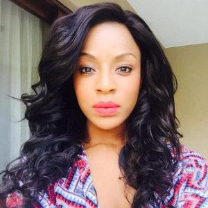 Jessica Nkosi beautiful curly hair with Kinky Hair