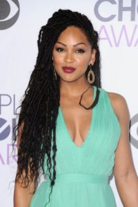 Meagan Good rocking Kinky Hair faux locs