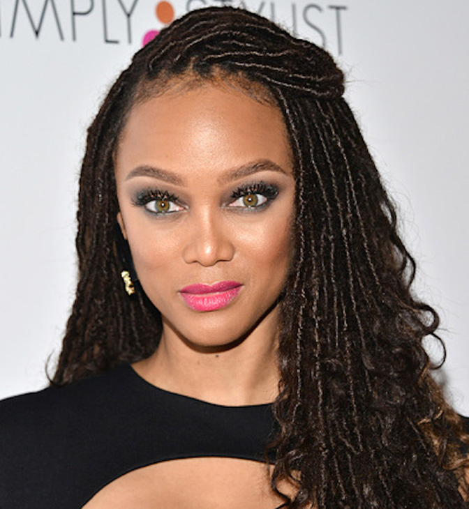 Tyra Banks rocking with Kinky hair